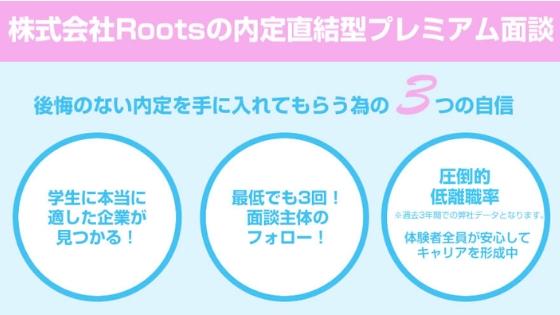Rootsの内定直結型プレミアム面談